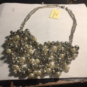 Eva Graham faux Pearl & Silver tone necklace